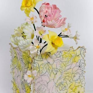 Spring on the cake - Cake by Renatiny dorty