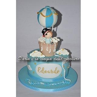 Hot air balloon cake