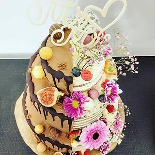 Weddingcake Black and white