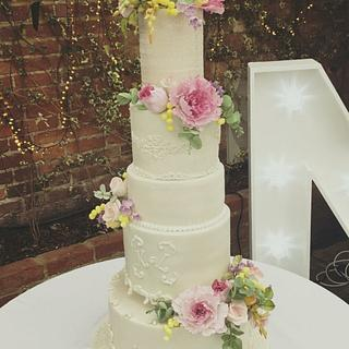 Spring flowers wedding cake!