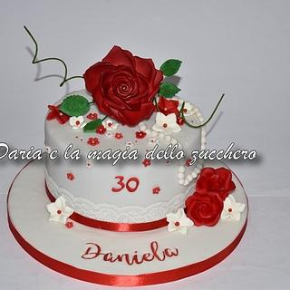 Cake with rose - Cake by Daria Albanese
