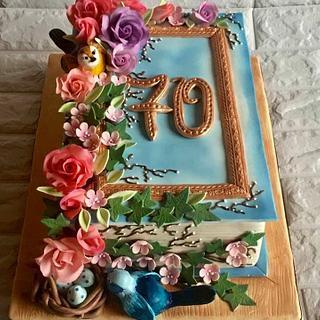 Happy 70 anniversary! - Cake by Ditsan