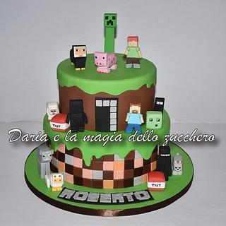 Minecraft cake - Cake by Daria Albanese