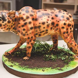 3d gepard cake