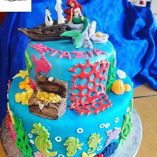 ARIEL BIRTHDAY CAKE - Cake by Rena Kostoglou