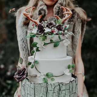 Natural Boho Wedding Cake