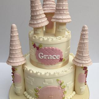 Vintage princess castle cake