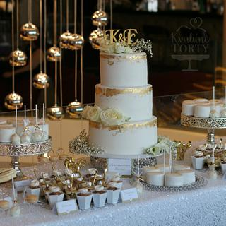 Luxury wedding dessert table :