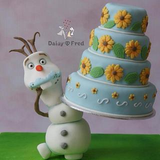 Olaf's floating cake - Cake by Daisy & Fred