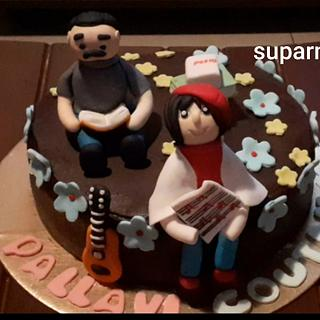 Birthday Cake for dad and daughter - Cake by Suparna