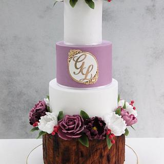 Rustic Wedding Cake !
