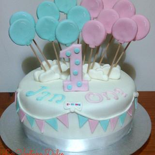 Balloons Cake - Cake by Andrea - La Ventana Dulce