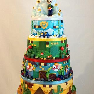 Super Mario World Weding Cake