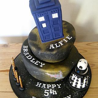 Doctor Who Dr Cake Tardis Dalek