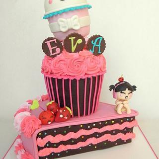 Kawaii Cupcake  - Cake by Joly Diaz