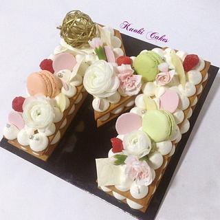 Cream tart Birthday
