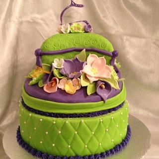 Topsy flower cake