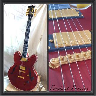 Gravity defying Gibson es-355 Guitar