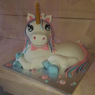 3D Unicorn - Cake by Gaabykuh