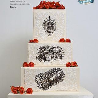 ''Heading Out West'' Wedding Cake - Cake by K's fondant Cakes