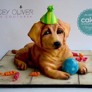 Puppy Love - Cake by Sugar Street Studios by Zoe Burmester