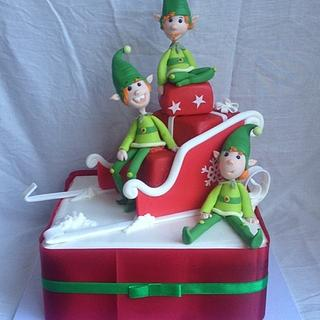 Christmas elves cake