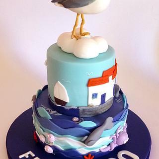 Seagull cake