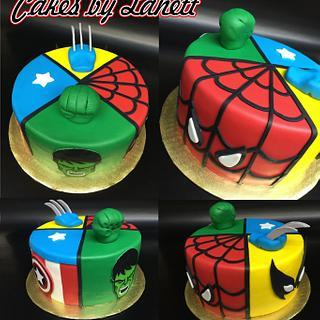 Comic Hero Cake - Cake by lanett