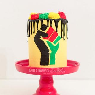 Black History Cake - Cake by Midtown Sweets