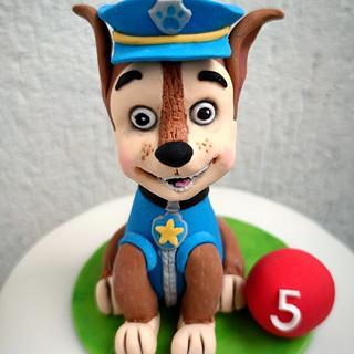 Chase - PAW Patrol - Cake by Kmeci Cakes