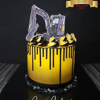 Construction crane cake