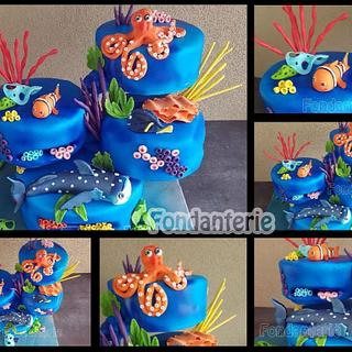 Finding dory - Cake by Fondanterie