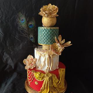 Dancer dress cake:Srilanka Collaboration