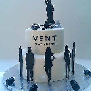 Graduation/Fashion cake - Cake by Mimi's Sweet Shoppe Amanda Burgess