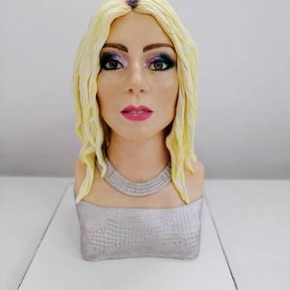 """Chocolate bust """"Lady Gaga"""""""