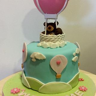 Hot Air Balloon Cake - Cake by DulcesSuenosConil