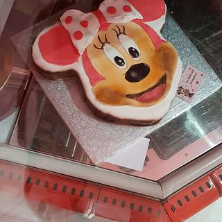 Just a pink Minnie Mouse Cake