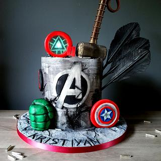 Avengers - Cake by Radoslava Kirilova (Radiki's Cakes)