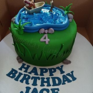 Fishing Themed Cake