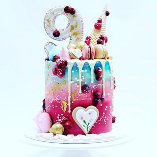 Ombre drip birthday cake  - Cake by Celebration cakes