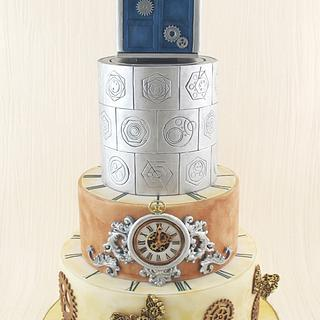 Steampunk Meets Dr Who Wedding cake