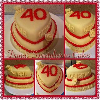 40 year anniversary cake
