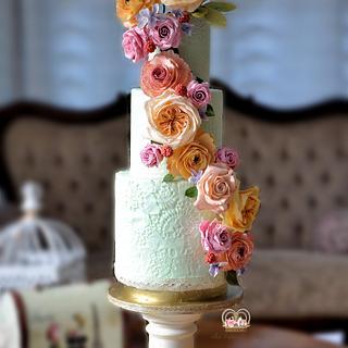 Mint Lace & Sugar Flowers