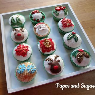 Christmas Gingerbread Cup cakes