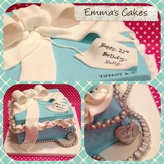 Tiffany Gift Box Cake