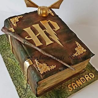 Harry Potter themed cake - Cake by Fondantfantasy