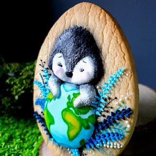 Penguin in Healing Hands