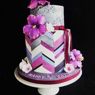 "Chevron cake ""Katie"""