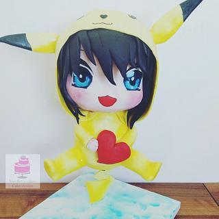 Chibi Pokemon cake
