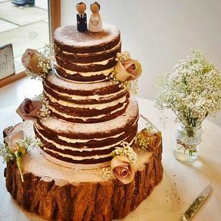 Naked wedding cake - Cake by Rachel Nickson